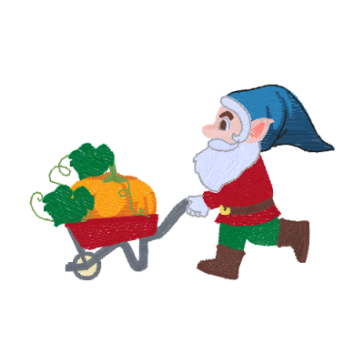 Gnome with pumpkin cart EP_01